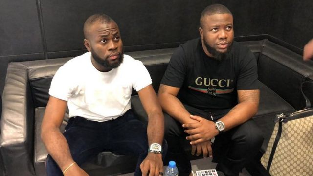 Nigerian comedian Lasisi Elenu and Hushpuppi
