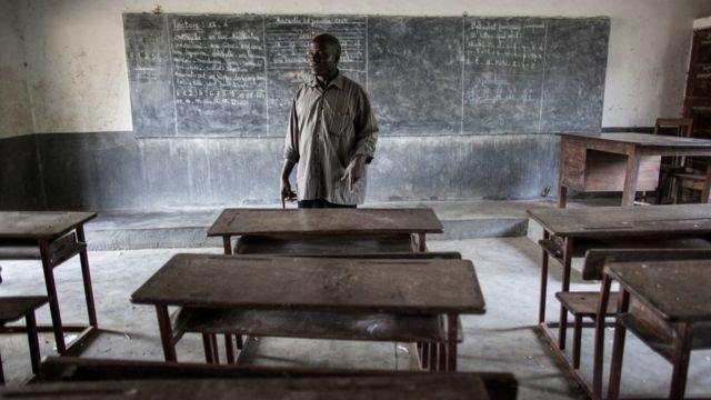 Une salle de classe en Guinée (archive)