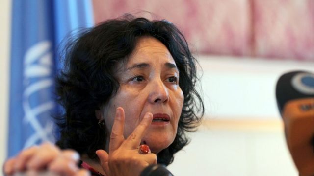 Leila Zerrougui, ici en conférence de presse à Sanaa au Yemen en 2012 (illustration).
