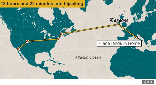 Plane lands in Rome - 18 hours and 22 minutes into hijack