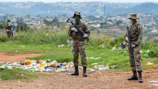 Militares na África do Sul