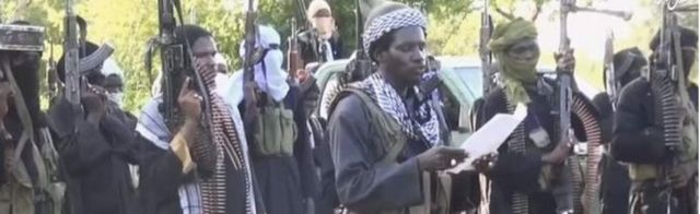 Boko Haram fighters in video released on Wednesday 7 October 2015