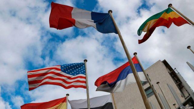 विविध देशांचे झेंडे