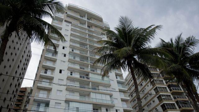 Vista del apartamento Solaris por el que acusan a Lula