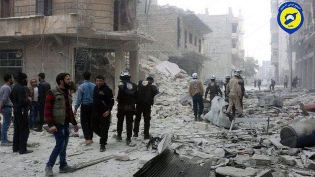 सीरिया के एलेप्पो में हमले के बाद की स्थिति
