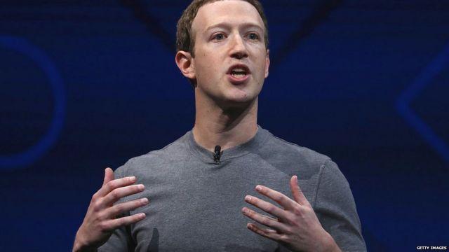 Facebook CEO Mark Zuckerberg delivers the keynote address at Facebook's F8 Developer Conference on April 18, 2017