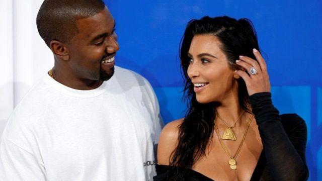 Kanye West n'umugore wiwe Kim Kardashian