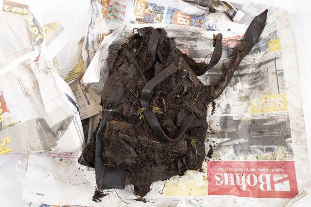 The disintegrating bag found by Arne Magnus Vabo