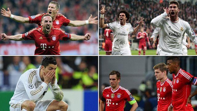 Imágenes de los partidos entre Real Madrid y Bayern