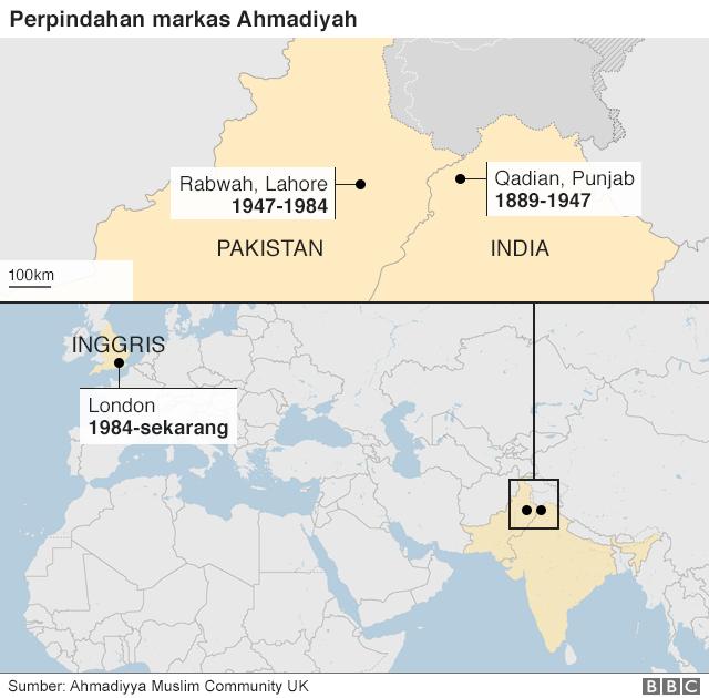 Perpindahan markas Ahmadiyah