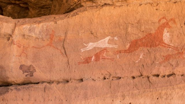 Arte rupestre en Libia