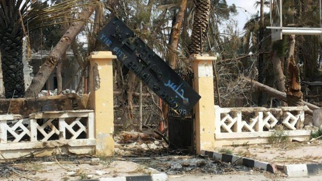 パルミラ市議会は破壊されていた(27日)