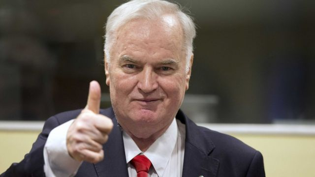 Ratko Mladic on the day of the announcement of the verdict on November 22, 2017