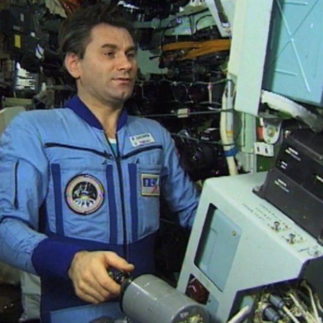 Vasili Tsibliyev, comandante de la misión Mir, en 1997