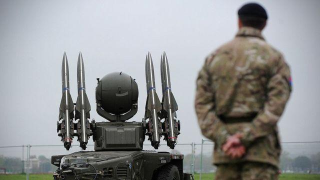مدرعة تحمل صواريخ أرض جو، لندن