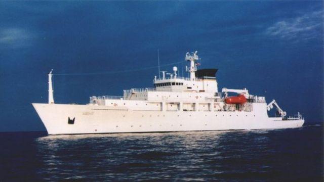 وقع الحادث بينما كانت الوحدة البحرية يو إس إن إس بوديتش، وهي سفينة للمسح البحري، على وشك استعادة الوحدة التي تدار بلا طاقم