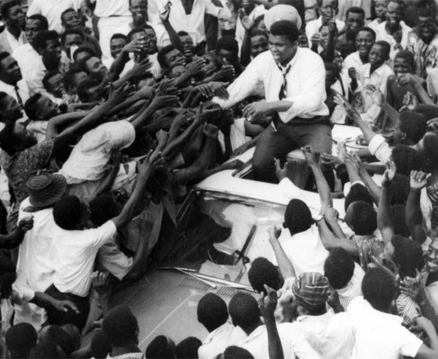 """In his 1964 tour of West Africa, fans in Lagos chanted that he was the """"king of the world"""""""