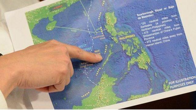 Đường chín đoạn của Trung Quốc trên bản đồ