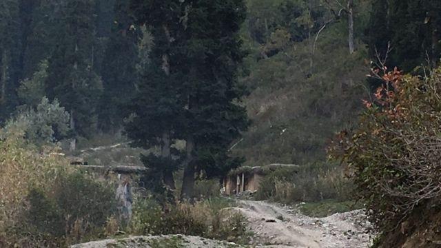 मुंदाकली गांव के पास मौजूद पाकिस्तानी पोस्ट