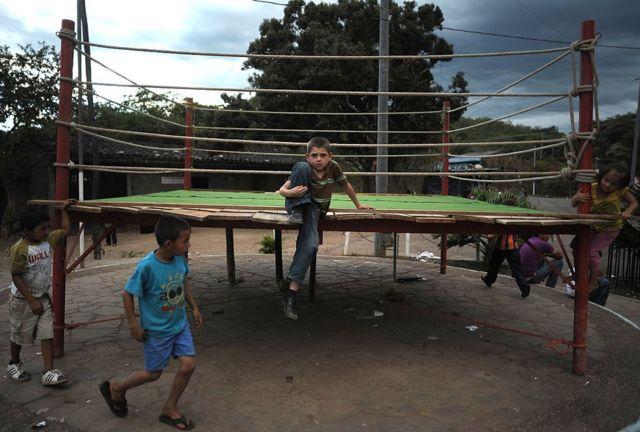 Niños en El Mozote, El Salvador, en 2012.