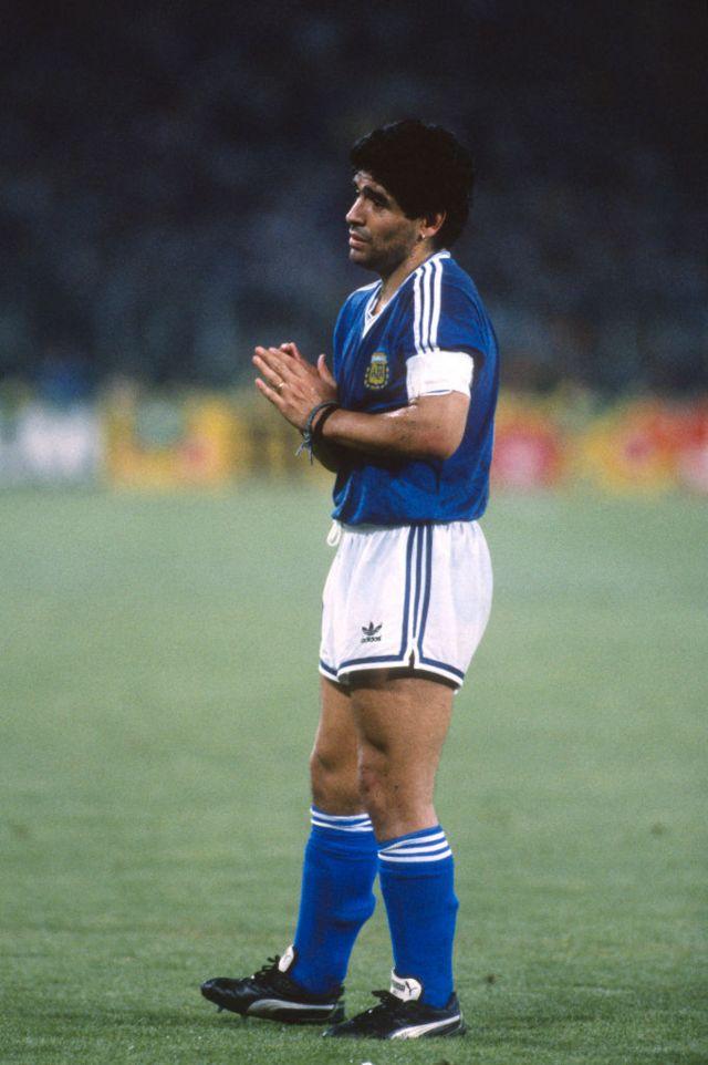 Diego Maradona en 1990