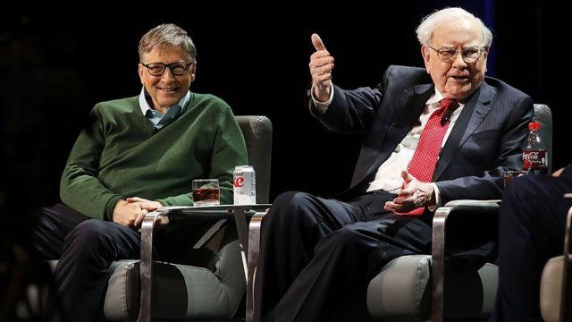 Bill Gates y Warren Buffet.
