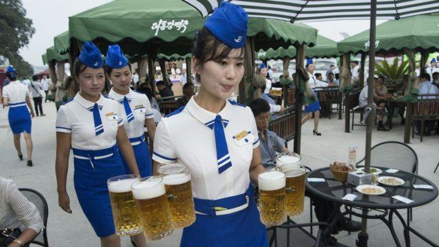Festival de la cerveza en Corea del Norte.