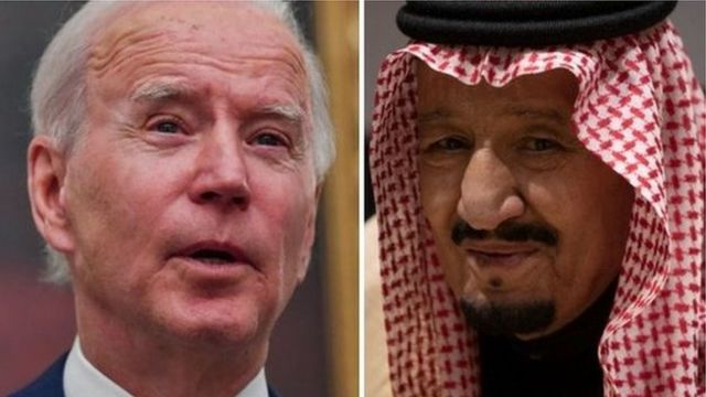 Composite picture of President Biden and King Salman