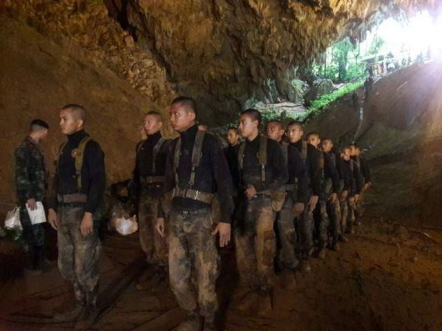 غار کے اندر