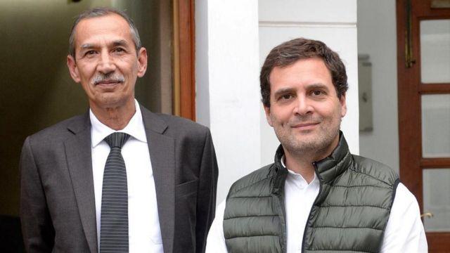 माजी लेफ्टनंट जनरल डी.एस. हुडा आणि राहुल गांधी