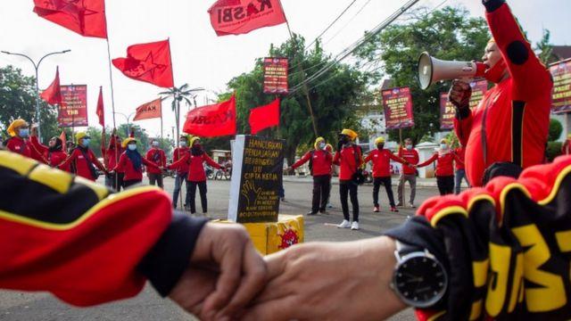 Демонстрация в Индонезии