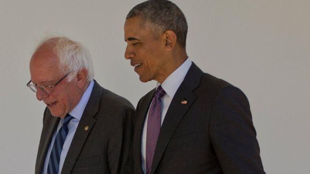 Sanders y Obama se reunieron en la mañana previa al anuncio en video del presidente.