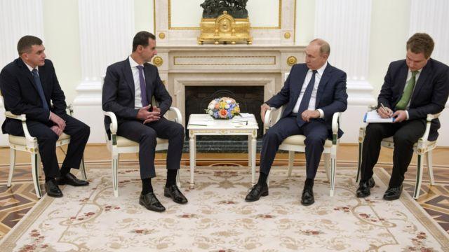 Esad ve Putin Moskova'da