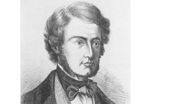 El médico irlandés William Brooke O´Shaughnessy, Ilustración de dominio público.