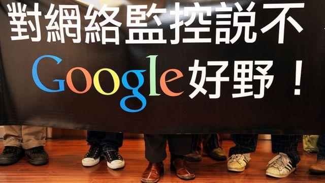 Empleados de Google en Hong Kong