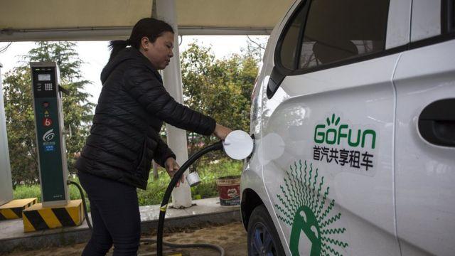电动车充电,武汉