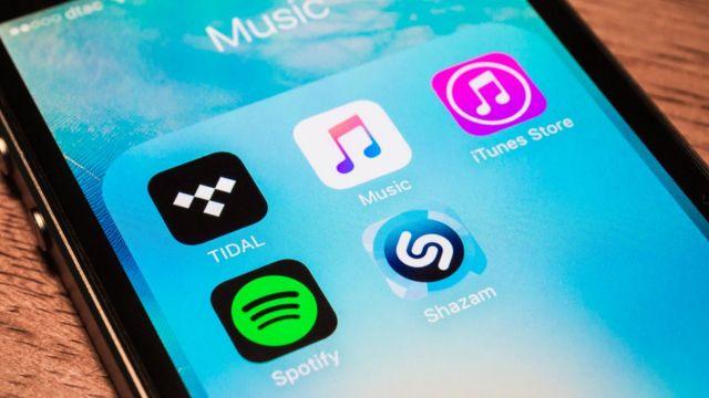 Aplicaciones de música en un móvil