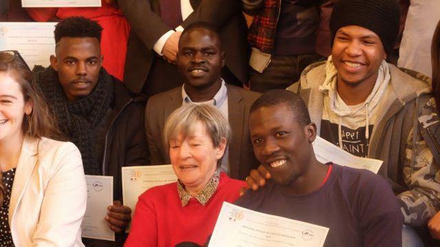 Les élèves sont pour la plupart afghans, soudanais, somaliens et tchadiens.