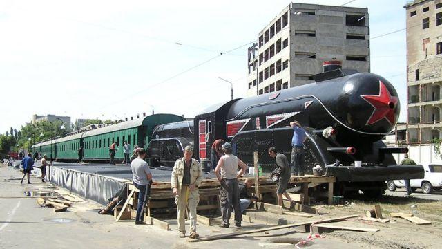 Потяг на знімальному майданчику
