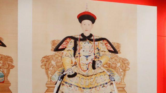 清朝乾隆皇帝画像