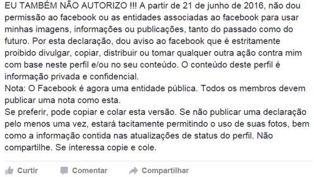Post no Facebook