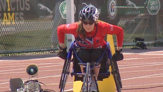 UK athlete Kirsty Wallace competing in the Invictus Games