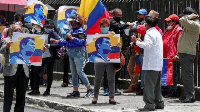Una manifestación en Quito