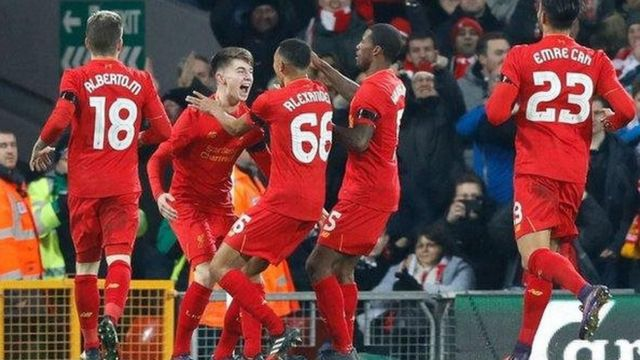 Liverpool Players Celebrating