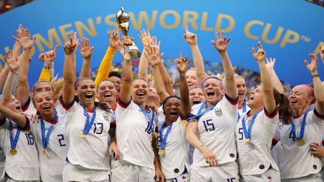 பெண்கள் உலகக் கோப்பை கால்பந்து போட்டியில் வென்ற அமெரிக்கா