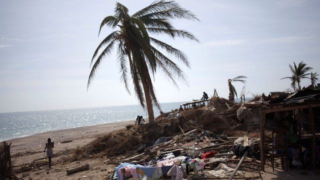 Picture of the damage caused in Haiti by hurricane Matthew