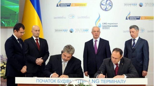 підписання угоди про LNG-термінал