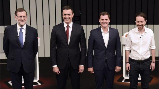 Mariano Rajoy, Pedro Sanchez, Albert Rivera, Pablo Iglesias,