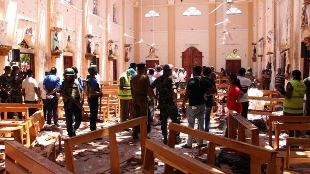 Последствия взрыва в церкви
