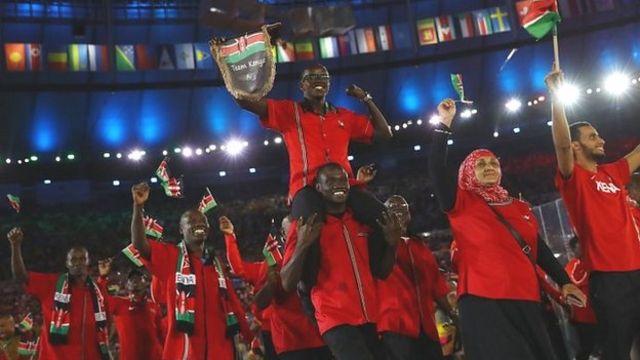 تیم کنیا در مراسم گشایش بازی های ریو